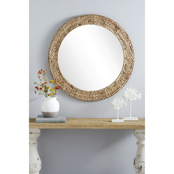 Chiara Round Handmade Wicker Rustic Accent Mirror Throughout Moseley Accent Mirrors (View 19 of 20)