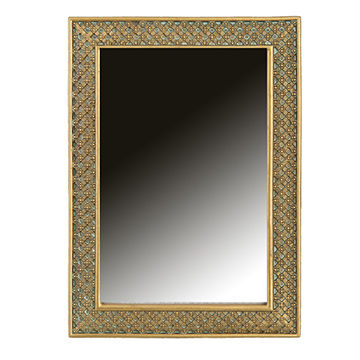 China Vanity Wall Mirror Vintage Beaded Lattice Antique From In Beaded Accent Wall Mirrors (#9 of 20)