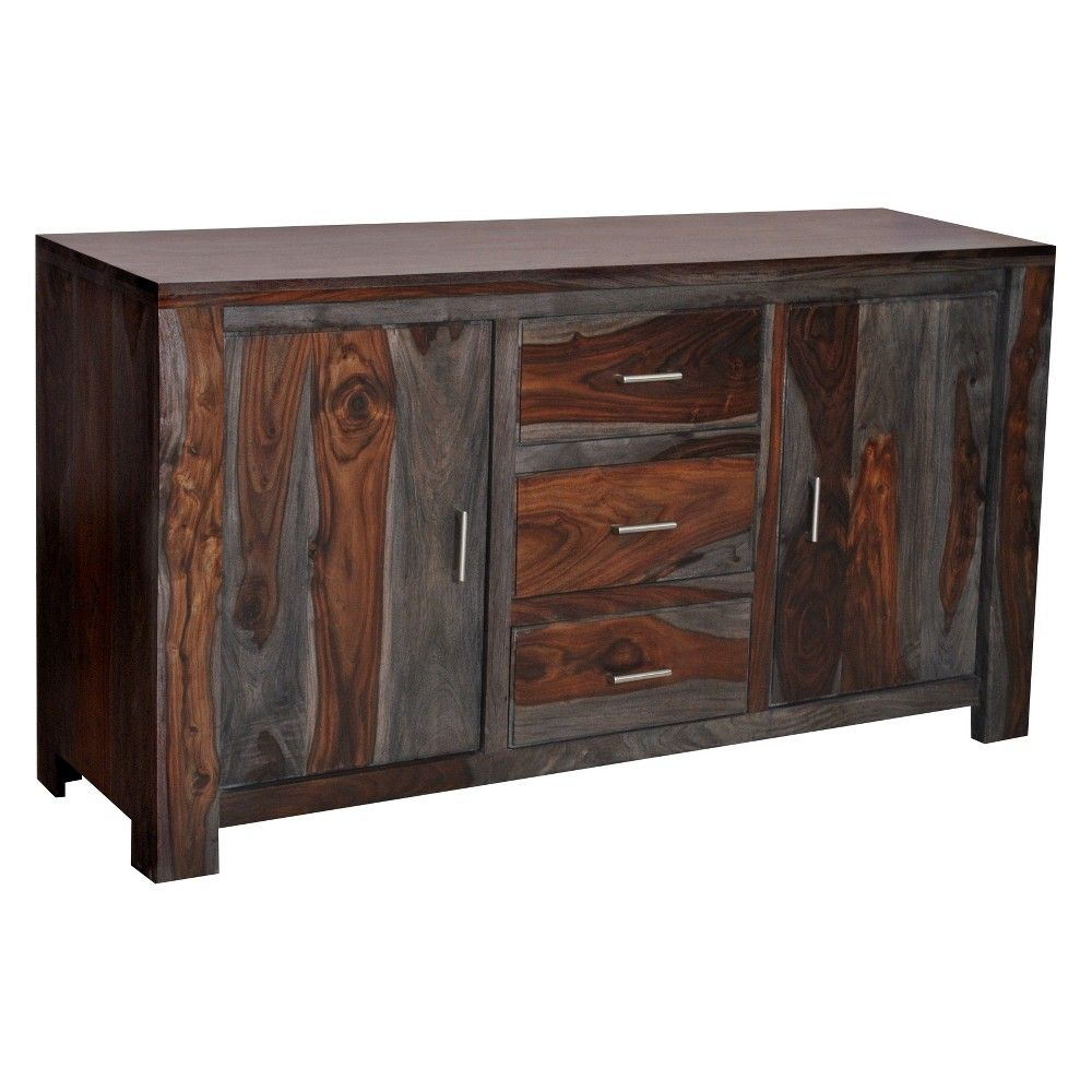 Christopher Knight Home Grayson Sheesham Storage Sideboard With Best And Newest Drummond 4 Drawer Sideboards (#6 of 20)