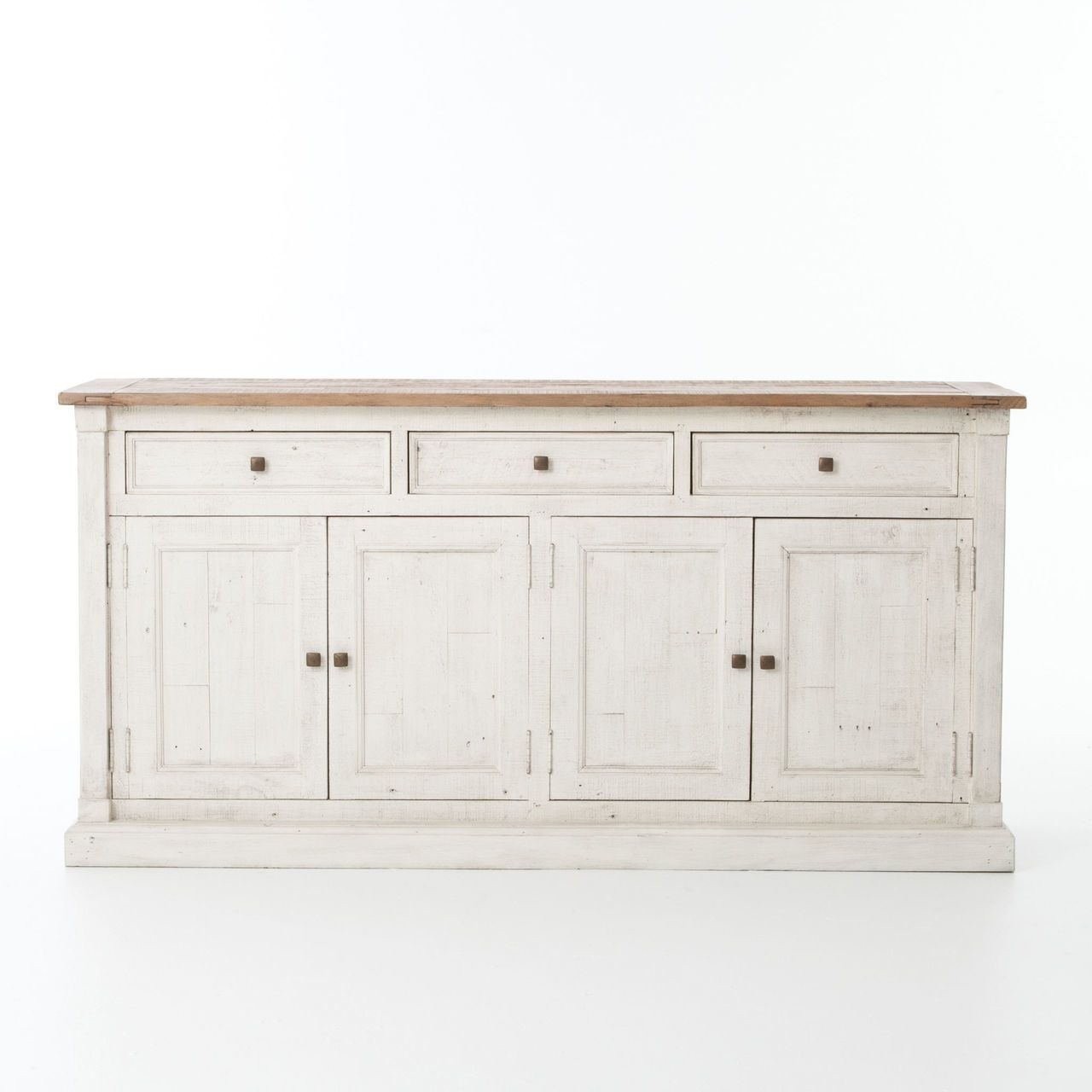 Cintra Reclaimed Wood White Sideboard Buffet | Dining Room Throughout 2017 Payton Serving Sideboards (#4 of 20)