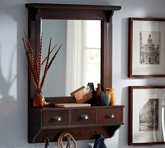 Classic Entryway Mirror Organizer – Large | For The Home Throughout Hallas Wall Organizer Mirrors (View 3 of 20)