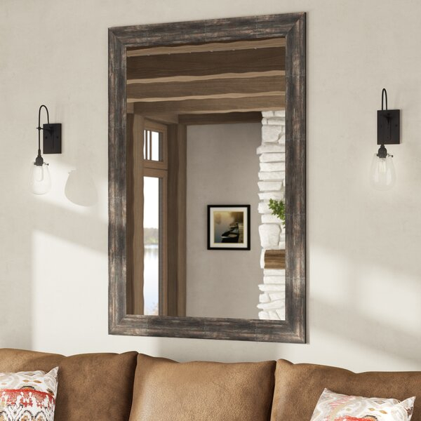 Classic Rustic Wall Mirror Intended For Sajish Oval Crystal Wall Mirrors (#1 of 20)