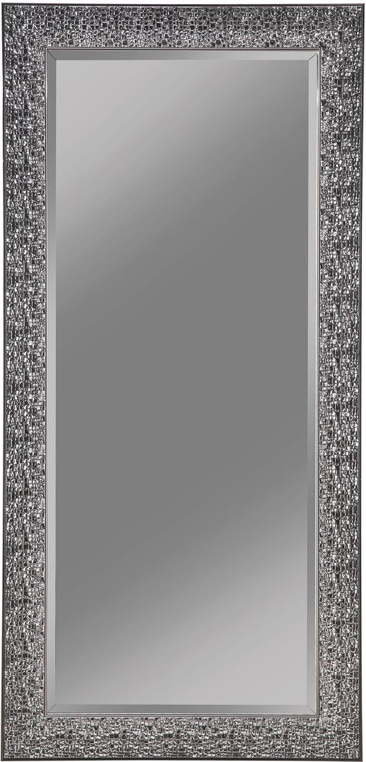 Coaster Accent Mirror With Colored Mosaic Frame In Silver With Regard To Silver Frame Accent Mirrors (#7 of 20)