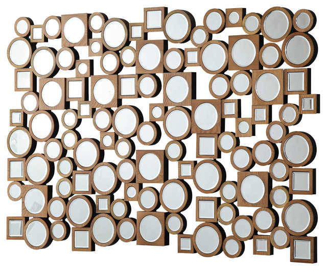 Coaster Accent Mirrors Collage Style Mirror With Round And Square Shapes With Accent Mirrors (View 2 of 20)