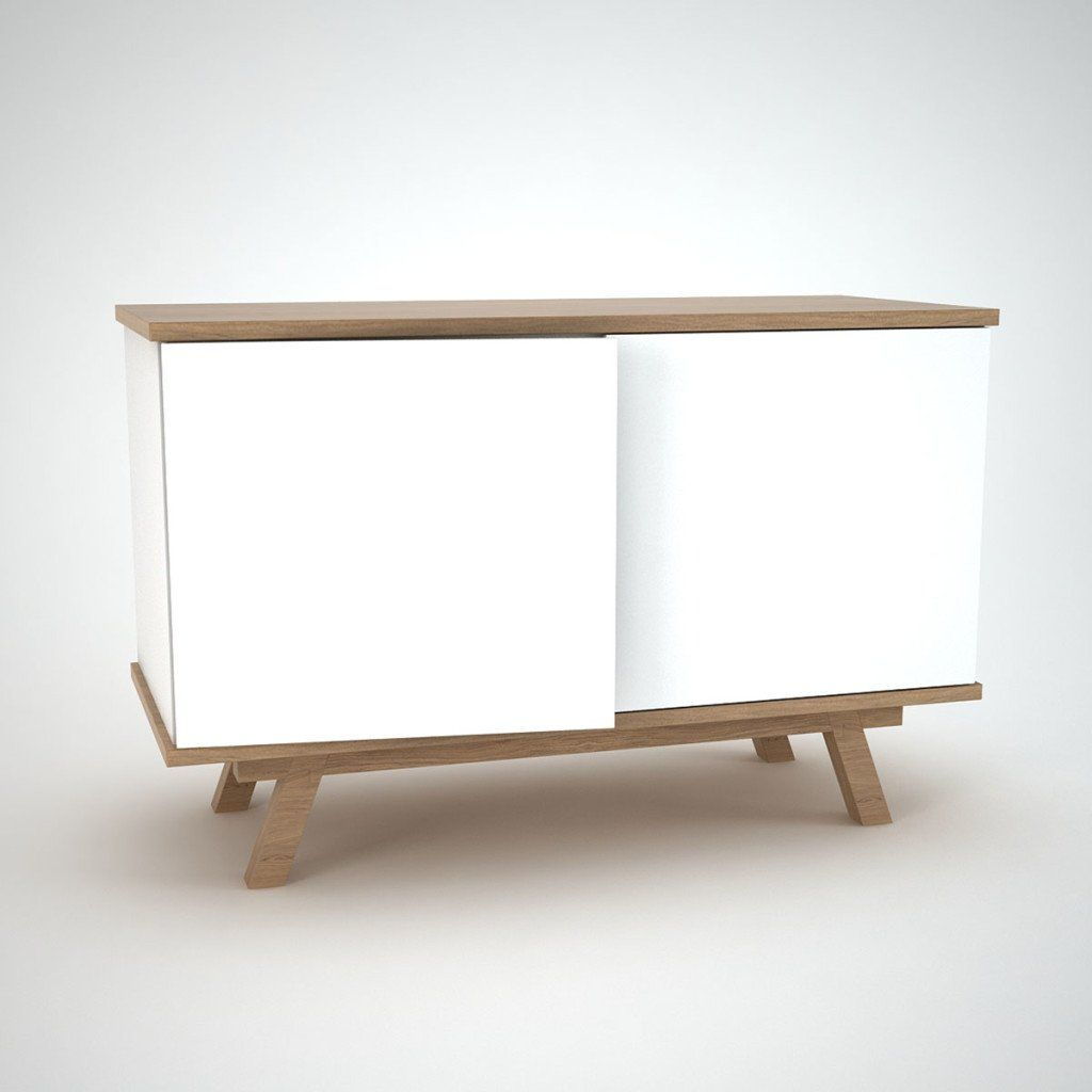 Comtemporary Sideboard White Ottawa Oak | Schlafzimmer In Intended For Recent Thite Sideboards (View 4 of 20)