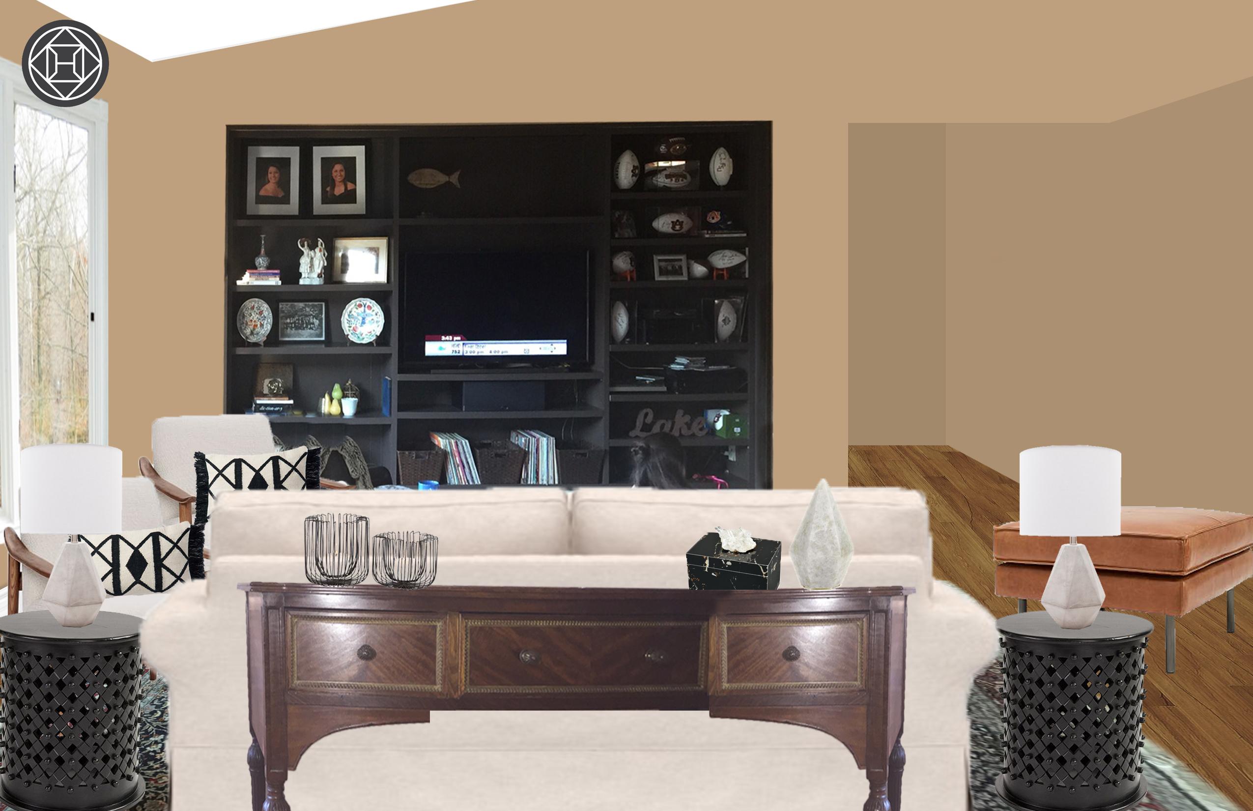 Contemporary, Glam, Preppy Living Room Designhavenly Regarding Current Lainey Credenzas (View 19 of 20)
