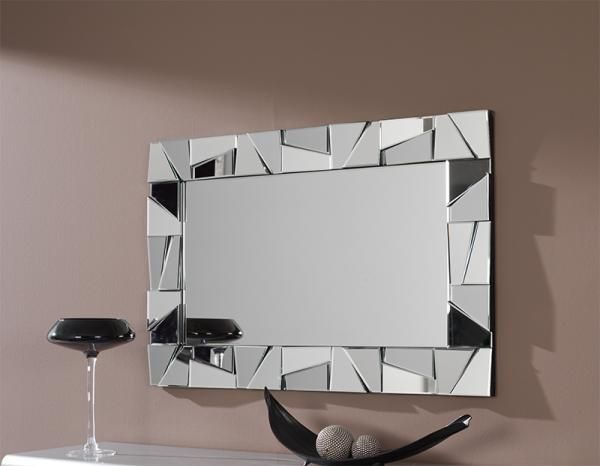 Contemporary Rectangular Wall Mirror With Triangular With Modern Rectangle Wall Mirrors (#5 of 20)