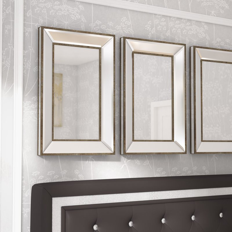 Corrinne Rectangle Accent Wall Mirror Inside Rectangle Accent Mirrors (#6 of 20)