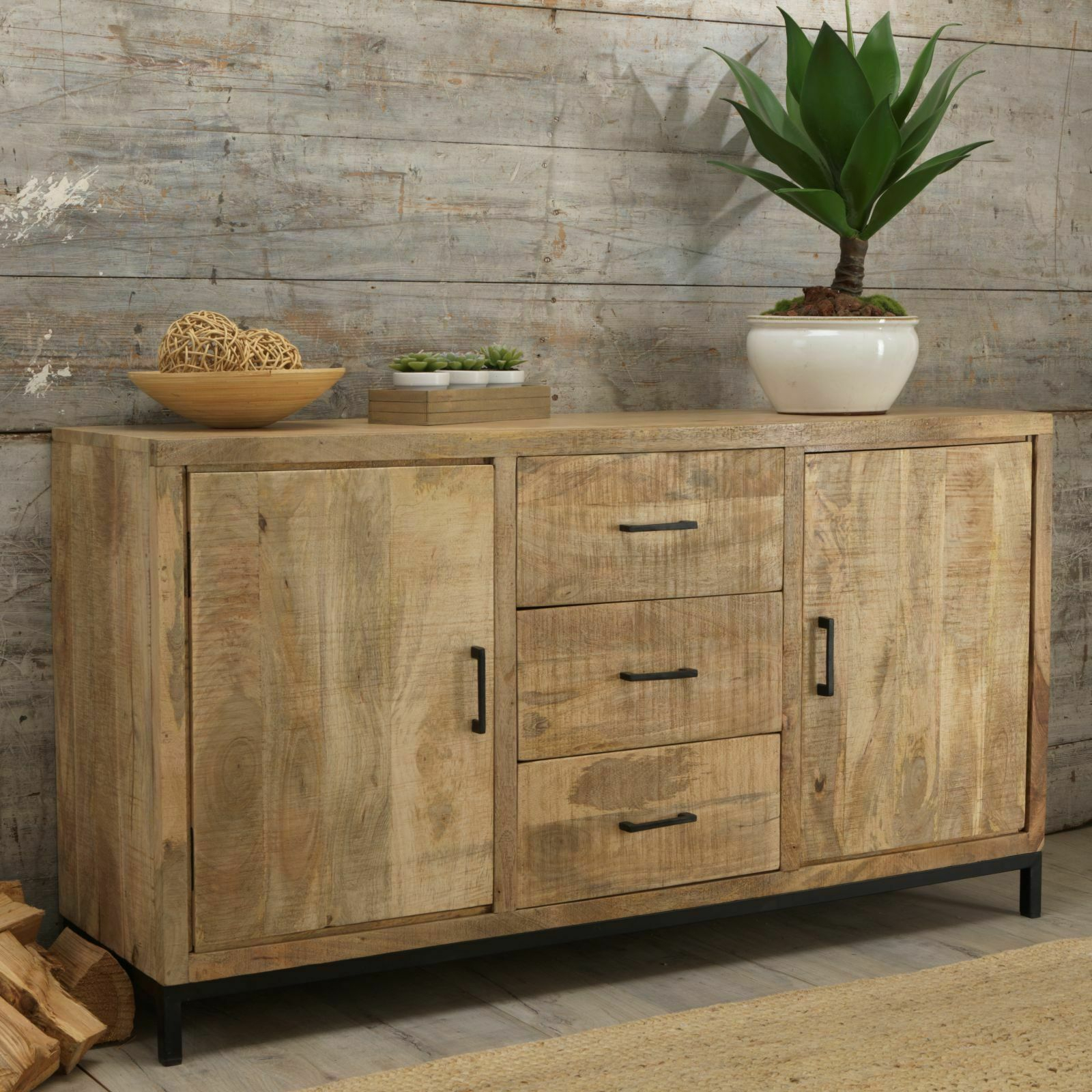 Cove Reclaimed Wood Dining Living Room Furniture Large Sideboard Regarding Most Recently Released Clifton Sideboards (View 11 of 20)