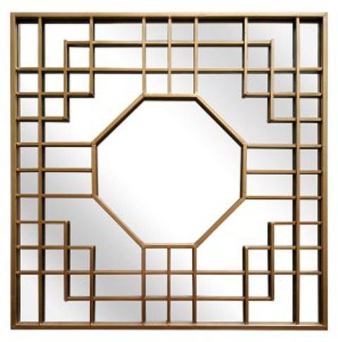 Cristobal – Gold Finish – Accent Mirror For Accent Mirrors (View 10 of 20)