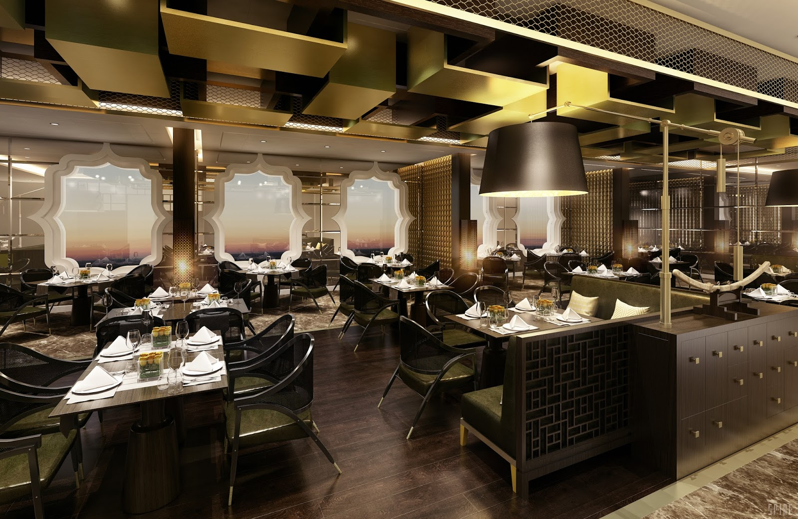 Cruise Diva: Pan Asian Restaurant To Debut On Seven Seas Inside Most Recently Released Seven Seas Asian Sideboards (View 8 of 20)