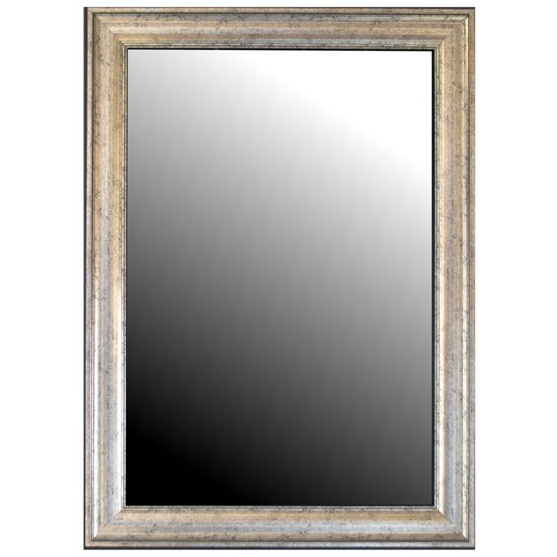 Curren Vintage Beveled Silver Wall Mirror Within Kristy Rectangular Beveled Vanity Mirrors In Distressed (#6 of 20)