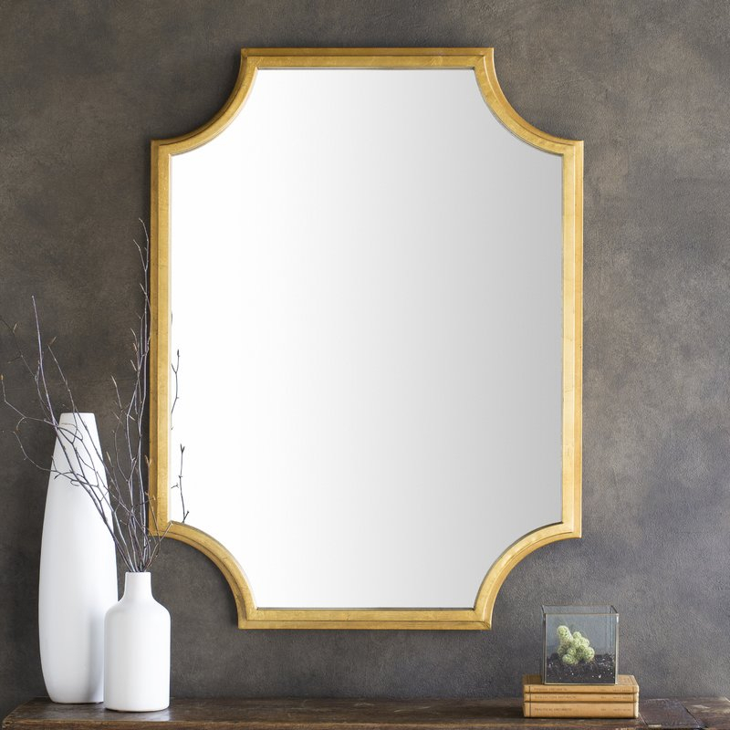 Inspiration about Danica Metallic Accent Traditional Wall Mirror Within Astrid Modern & Contemporary Accent Mirrors (#18 of 20)