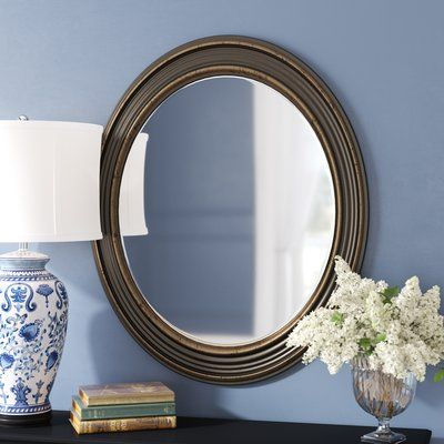 Inspiration about Darby Home Co Burnes Oval Wall Mirror | Products Intended For Charters Towers Accent Mirrors (#17 of 20)