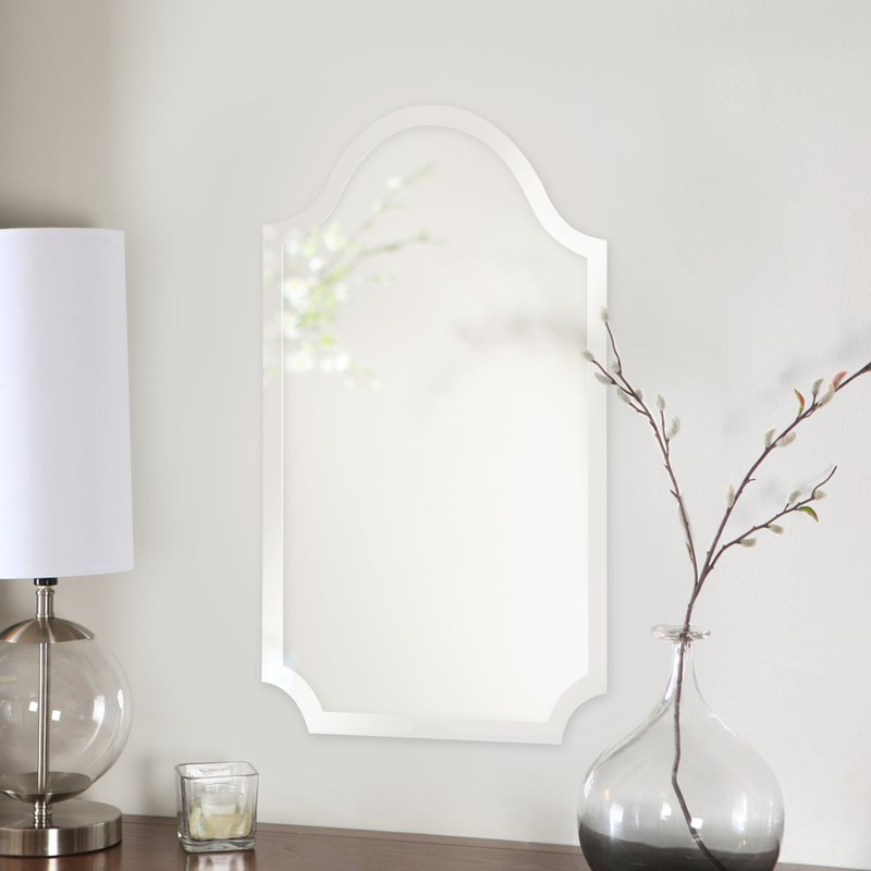 Dariel Tall Arched Scalloped Wall Mirror Pertaining To Dariel Tall Arched Scalloped Wall Mirrors (#11 of 20)