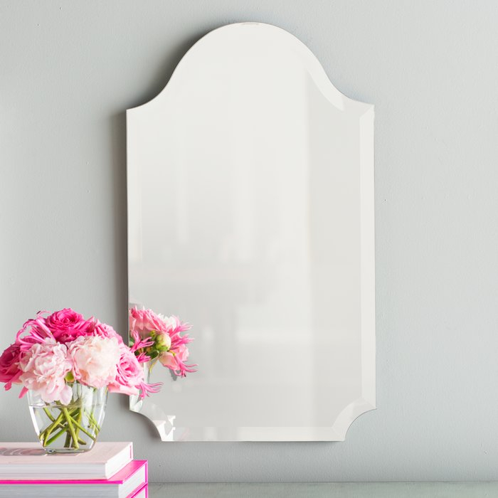 Dariel Tall Arched Scalloped Wall Mirror With Dariel Tall Arched Scalloped Wall Mirrors (#13 of 20)
