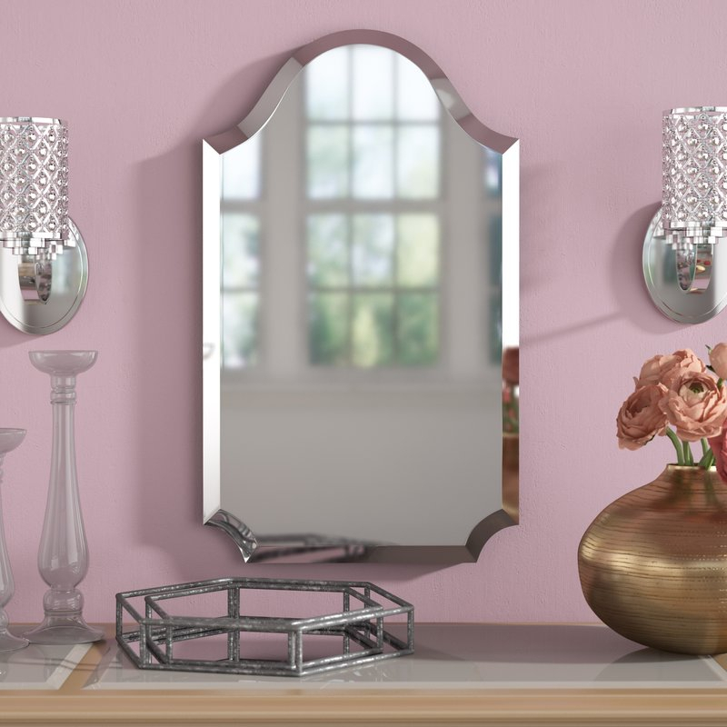 Dariel Tall Arched Scalloped Wall Mirror Within Dariel Tall Arched Scalloped Wall Mirrors (#16 of 20)