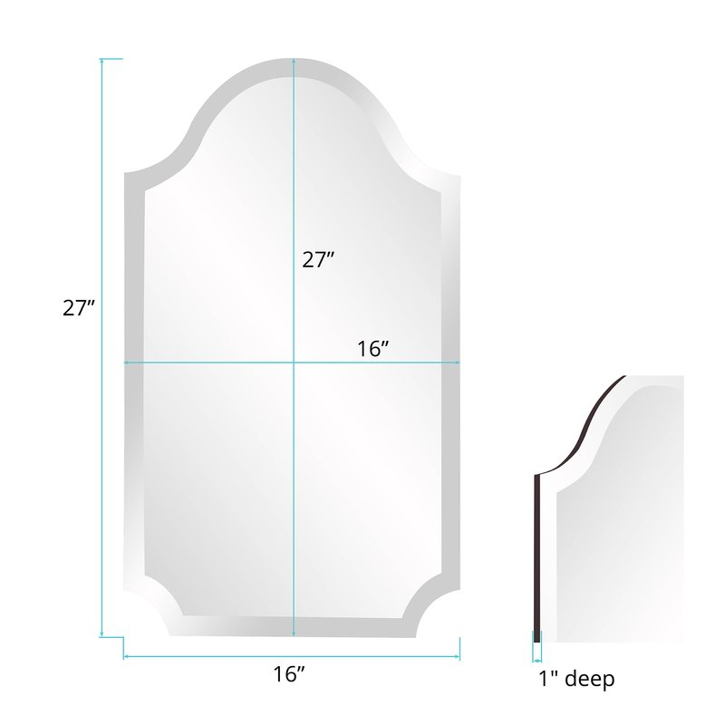 Inspiration about Dariel Tall Arched Scalloped Wall Mirror Within Dariel Tall Arched Scalloped Wall Mirrors (#7 of 20)