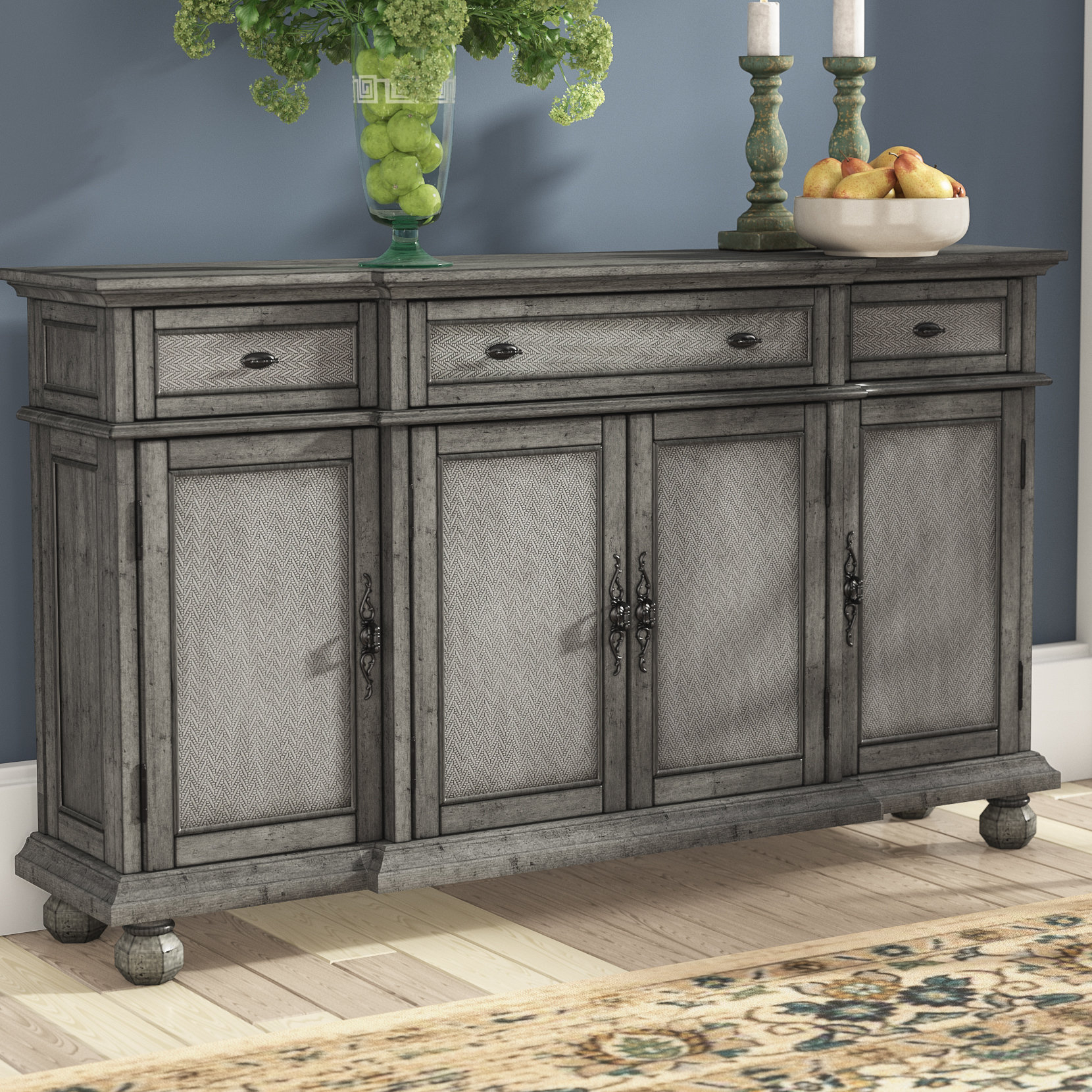 Inspiration about Dark Wood Credenza | Wayfair Pertaining To Newest Candide Wood Credenzas (#12 of 20)
