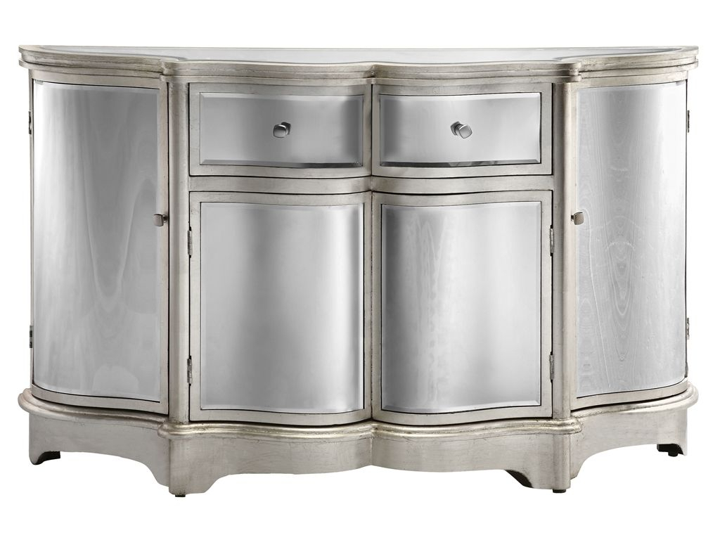 Inspiration about Dazzling Credenza Or Sideboard Featuring Curved Bent Mirror Pertaining To Current Wattisham Sideboards (#3 of 20)