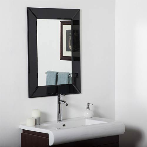 Decor Wonderland Infinity Modern Rectangular Beveled Wall Mirror In Modern Rectangle Wall Mirrors (#6 of 20)