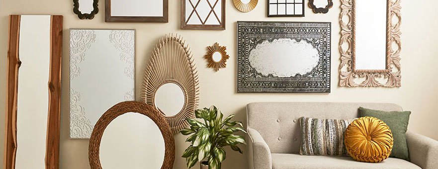 Decorative Wall Mirrors | At Home With Rectangle Ornate Geometric Wall Mirrors (#4 of 20)