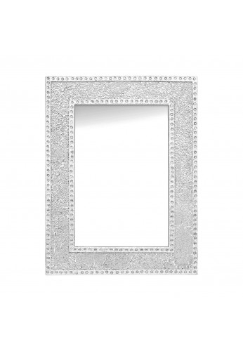 """Decorshore 24""""x18"""" Crackled Glass Mosaic Wall Mirror, Framed Rectangular  Decorative Accent Mirror Inside Silver Frame Accent Mirrors (#8 of 20)"""