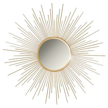 "Inspiration about Decorshore 36"" Gold Sunburst Circular Mirror, Metal Mirror With Brylee Traditional Sunburst Mirrors (#16 of 20)"