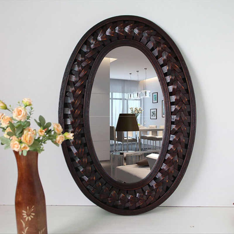 Detail Feedback Questions About Big Wall Mirror Bamboo And With Oval Wood Wall Mirrors (#6 of 20)