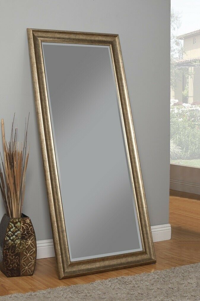Inspiration about Details About Full Length Mirror Leaning Mirrors Wall Mounted Tall Standing Floor Framed Women Inside Leaning Mirrors (#5 of 20)