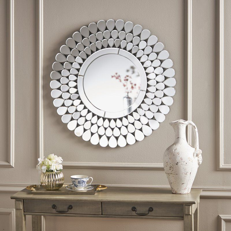 Diep Accent Wall Mirror In 2019 | Apartment – Living Room For Point Reyes Molten Round Wall Mirrors (#7 of 20)