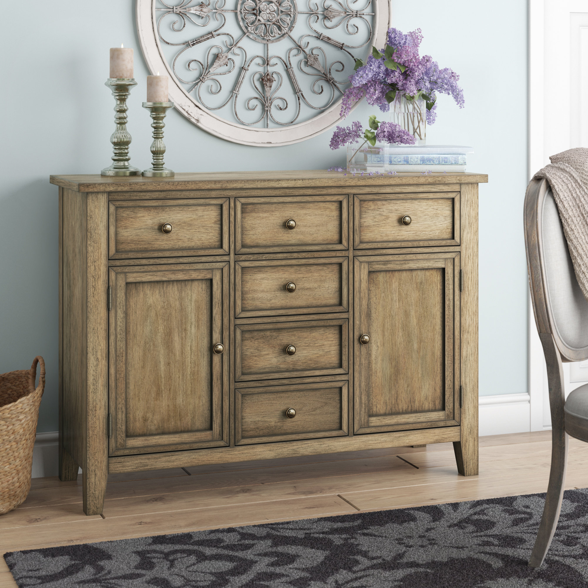 Distressed Finish Grey Sideboards & Buffets You'll Love In Throughout Most Popular Cazenovia Charnley Sideboards (#4 of 20)