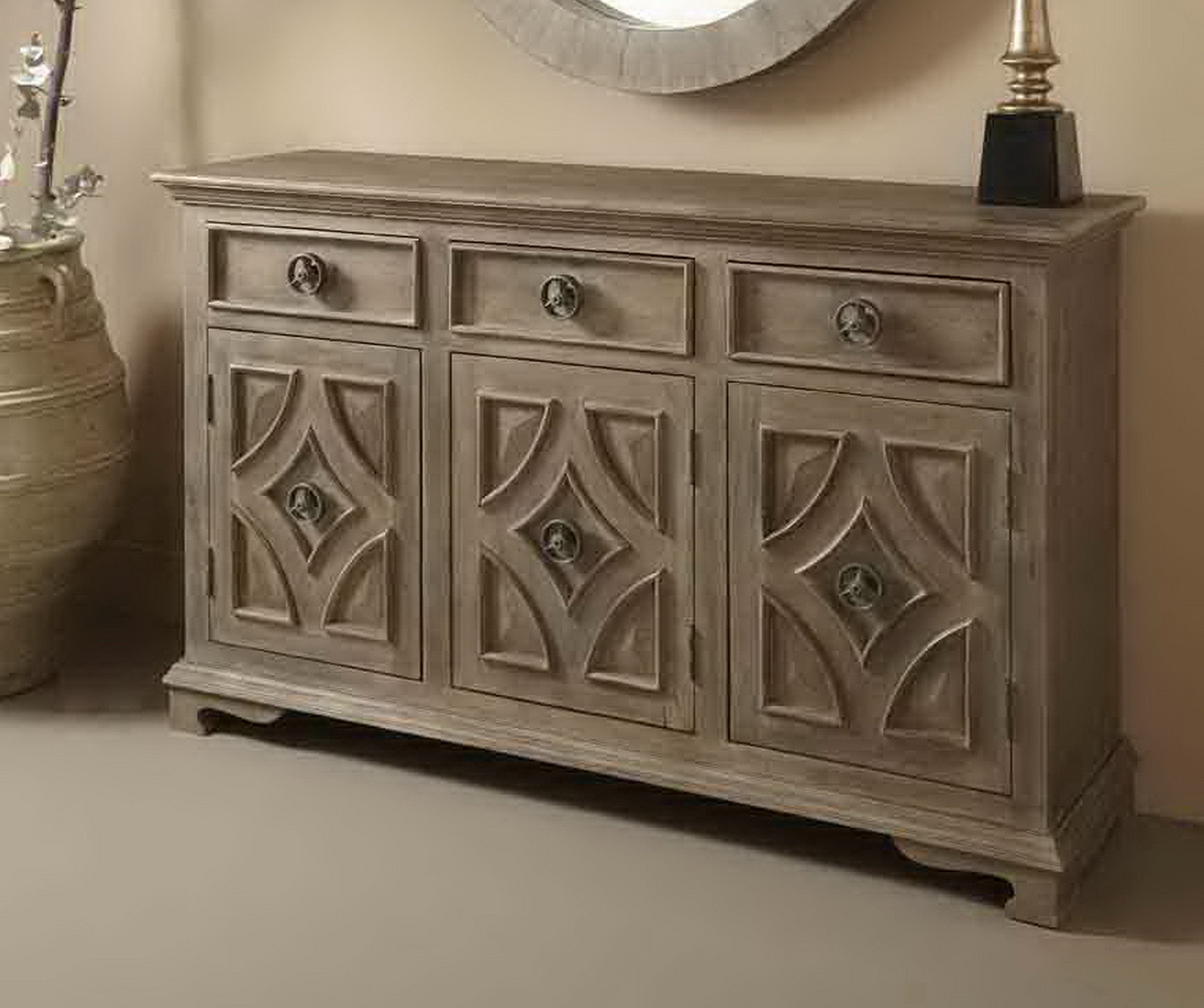 Distressed Finish Grey Sideboards & Buffets You'll Love In With 2018 Cazenovia Charnley Sideboards (#5 of 20)