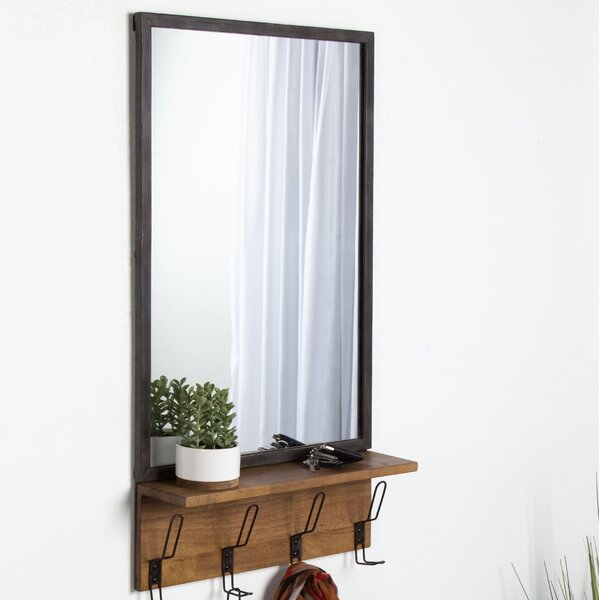 Distressed Metal Frame Mirror | Wayfair Inside 2 Piece Priscilla Square Traditional Beveled Distressed Accent Mirror Sets (View 17 of 20)