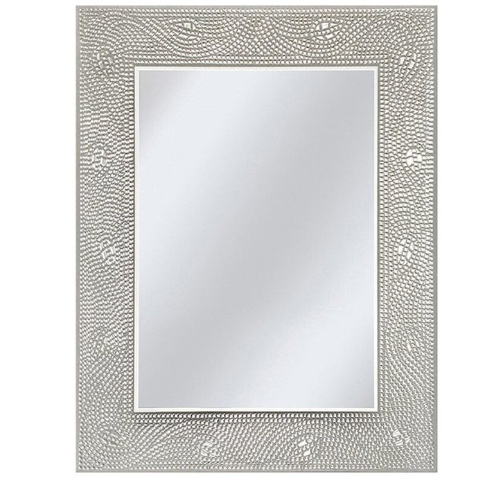 Dockery Crystal Mosaic Rectangle Accent Wall Mirror Throughout Rectangle Accent Wall Mirrors (View 9 of 20)