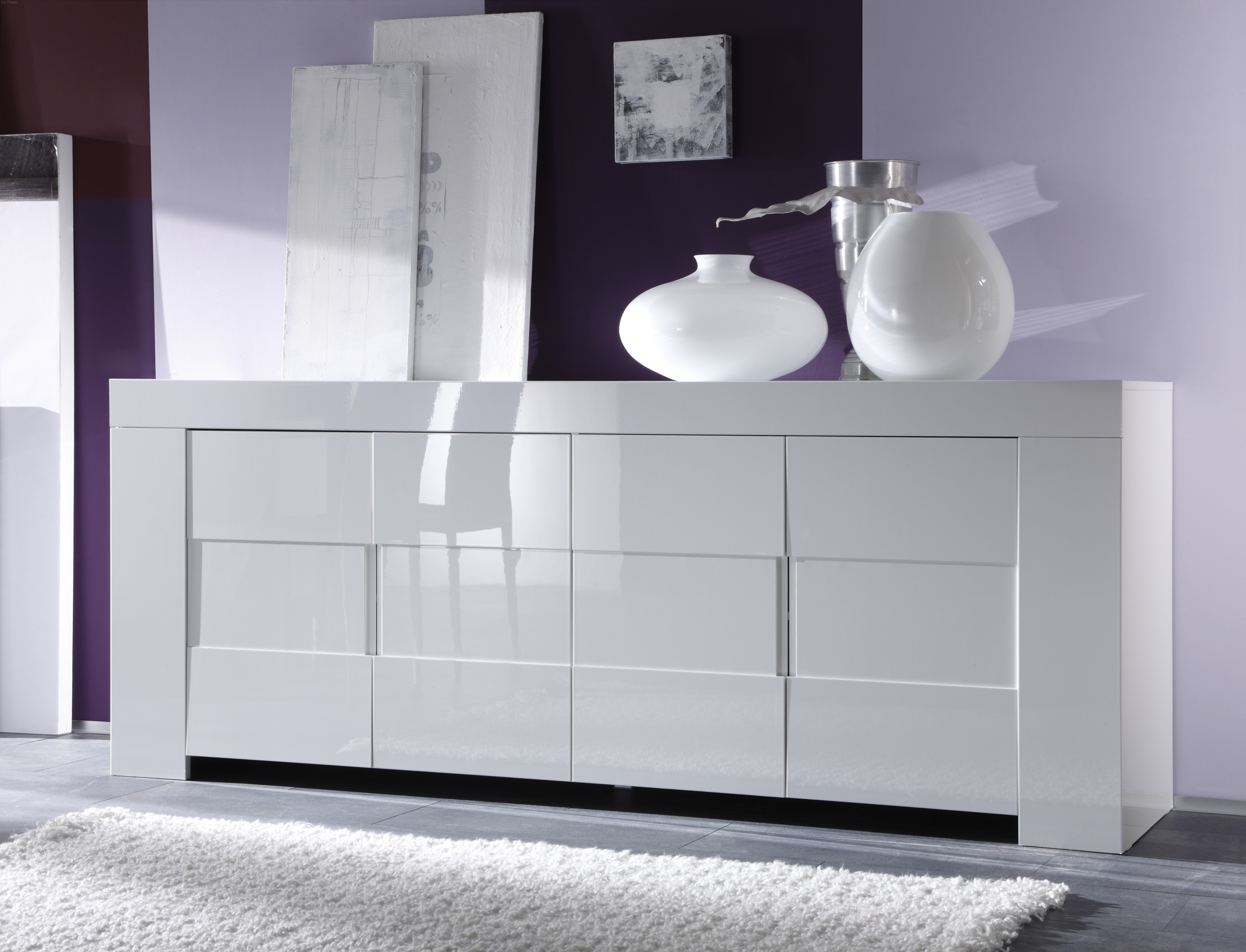 Dolce Italian White Gloss Sideboard 210Cm With Regard To 2018 Thite Sideboards (View 7 of 20)
