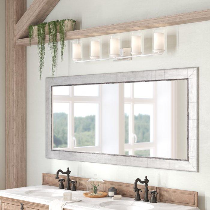 Inspiration about Dostie Bathroom/vanity Mirror In Landover Rustic Distressed Bathroom/vanity Mirrors (#12 of 20)