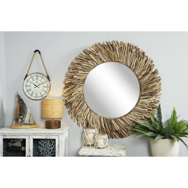 Driftwood Sunburst Mirror | Wayfair Regarding Brylee Traditional Sunburst Mirrors (View 14 of 20)