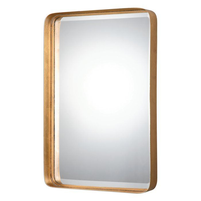 Inspiration about Duke Rectangle Accent Mirror | Bathrooms | Antique Gold Inside Rectangle Accent Mirrors (#5 of 20)