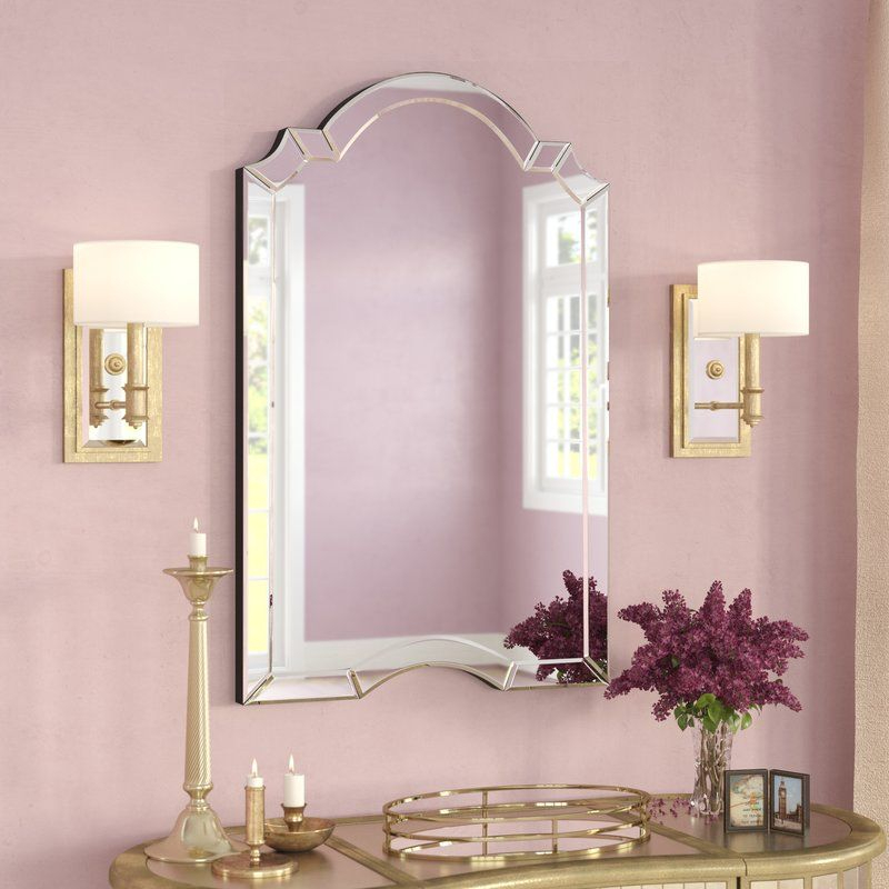 Ekaterina Arch/crowned Top Wall Mirror In 2019 | Bedroom Within Ekaterina Arch/crowned Top Wall Mirrors (#11 of 20)