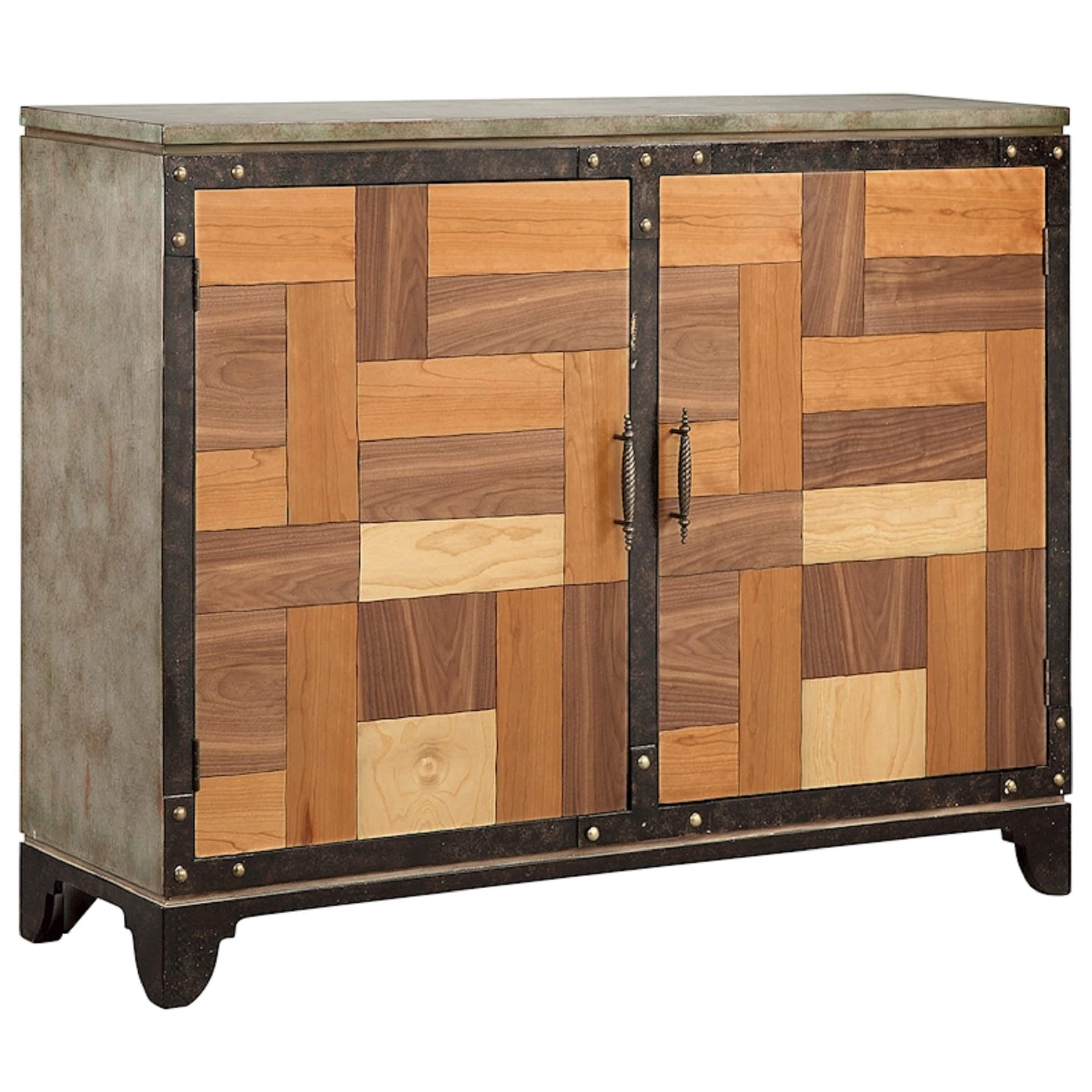 Elk Lighting Mosher Sponged Accent Cabinet | Products Inside Most Popular Shoreland Sideboards (#7 of 20)