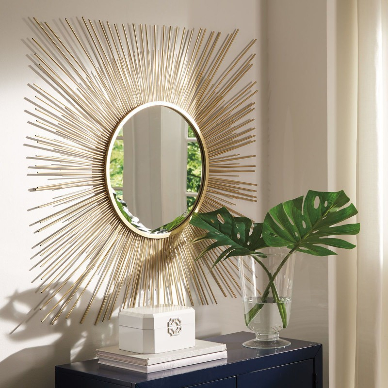 Elspeth – Gold Finish – Accent Mirror With Regard To Accent Mirrors (#8 of 20)
