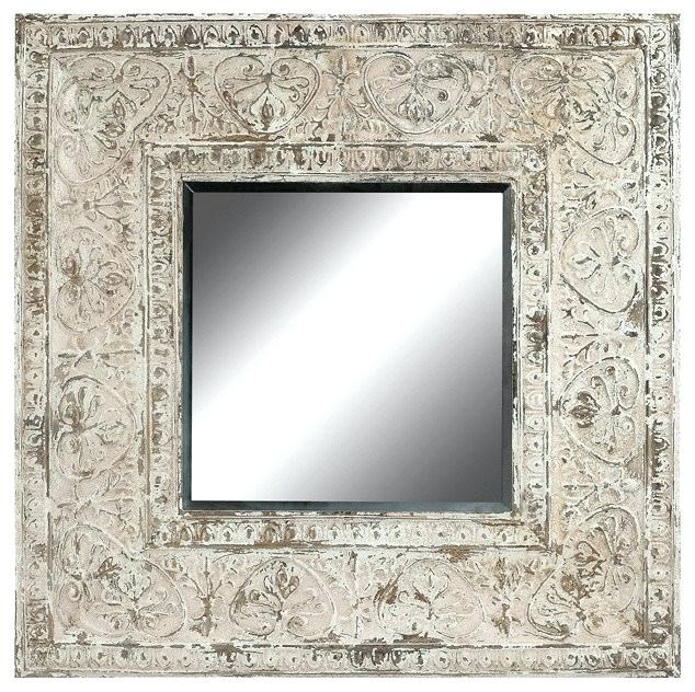 Embossed Metal Frame Wall Mirror Guild Master Traditional Regarding Traditional Metal Wall Mirrors (#3 of 20)
