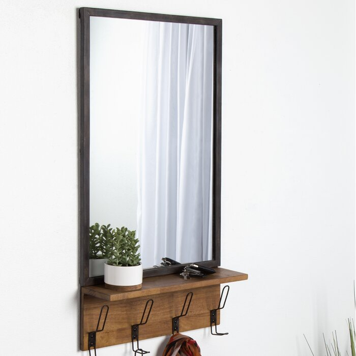 Emerson Distressed Metal Accent Mirror Within Berinhard Accent Mirrors (#12 of 20)