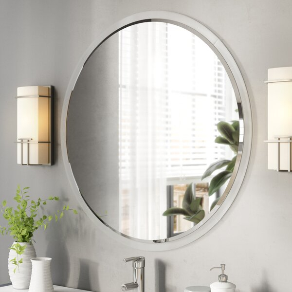 Enciso Wall Bathroom/vanity Mirror Intended For Lidya Frameless Beveled Wall Mirrors (#3 of 20)