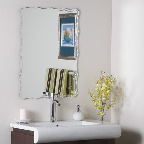 Estefania Frameless Wall Mirror | Bathrooms | Frameless Inside Estefania Frameless Wall Mirrors (#12 of 20)