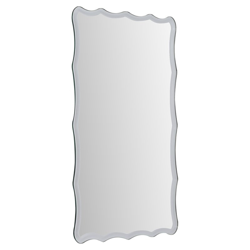 Estefania Frameless Wall Mirror Pertaining To Estefania Frameless Wall Mirrors (#5 of 20)