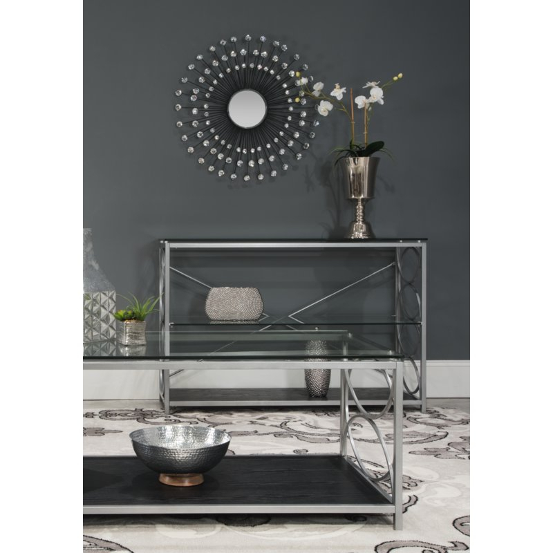 Estrela Modern Sunburst Metal Wall Mirror With Estrela Modern Sunburst Metal Wall Mirrors (#9 of 20)