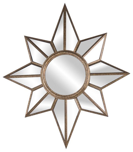 Estrella Wall Mirror For Estrela Modern Sunburst Metal Wall Mirrors (#14 of 20)