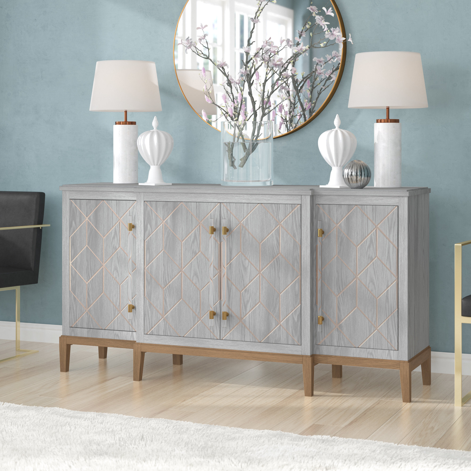 Extra Large Credenza | Wayfair Within Recent Barr Credenzas (#10 of 20)
